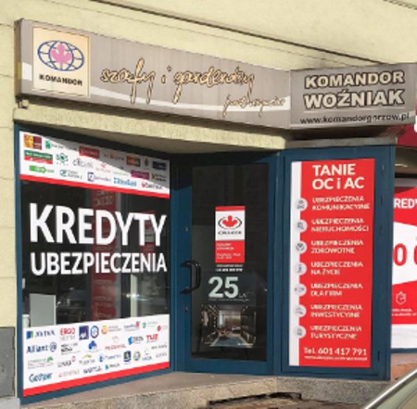 Salon ekspozycyjny firmy Komandor w Gorzowie Wielkopolskim.