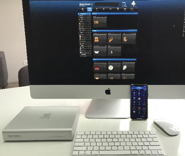 Zdjęcie prezentuje możliwość obsługi Smart Home przez centralkę Fibaro.